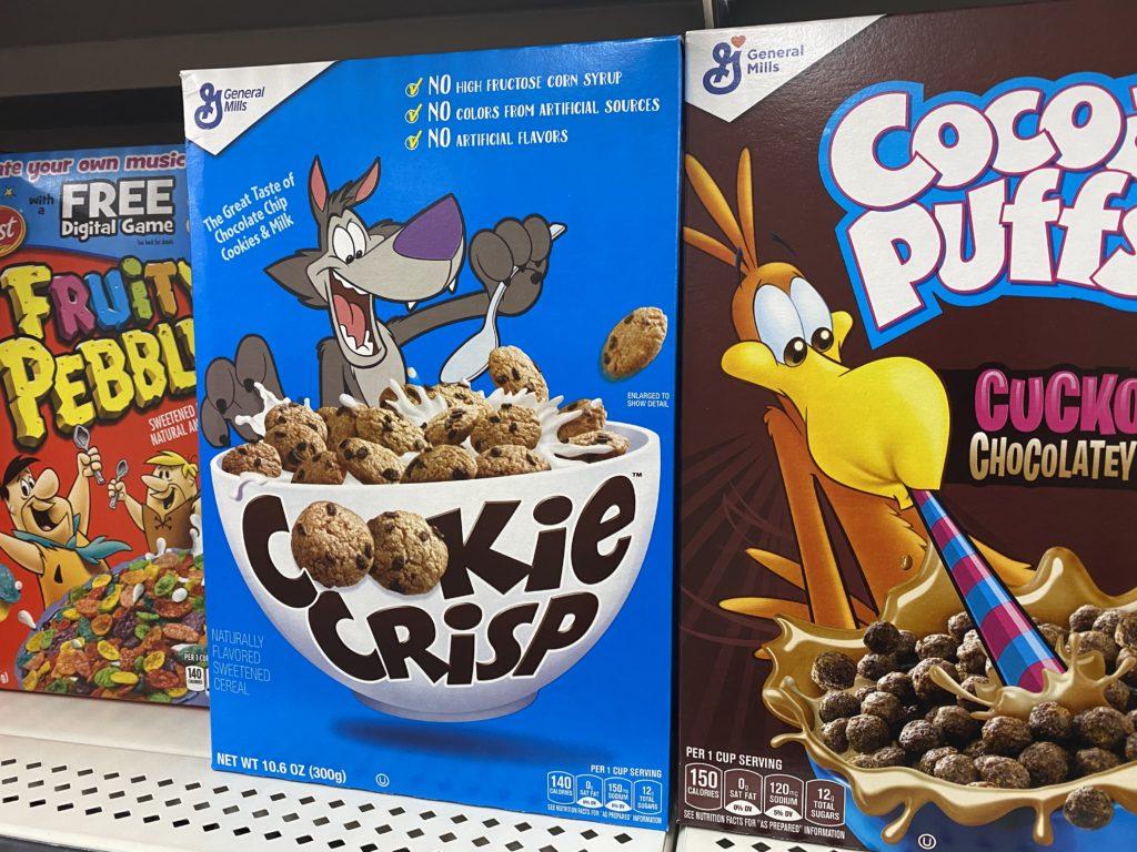 cereal shelves