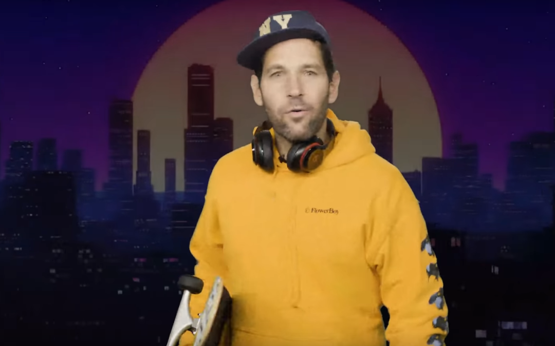 Young Person Paul Rudd Says To Wear A Mask